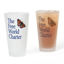 FWC-logo2-SQUARE Drinking Glass