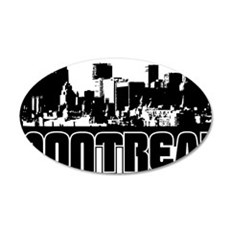 Montreal Skyline 35x21 Oval Wall Decal