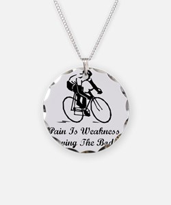 Pain Is Weakness Black Necklace