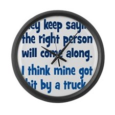 right_person3 Large Wall Clock