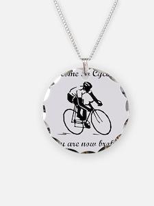 Cycling Broke Black Necklace
