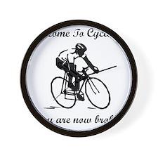 Cycling Broke Black Wall Clock