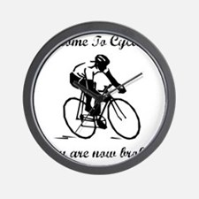 Cycling Broke Black Wall Clock
