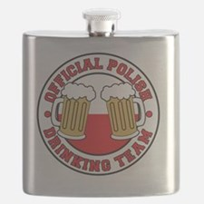 Official Polish Drinking Team Shirt Flask