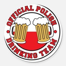Official Polish Drinking Team Shi Round Car Magnet