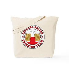 Official Polish Drinking Team Shirt Tote Bag