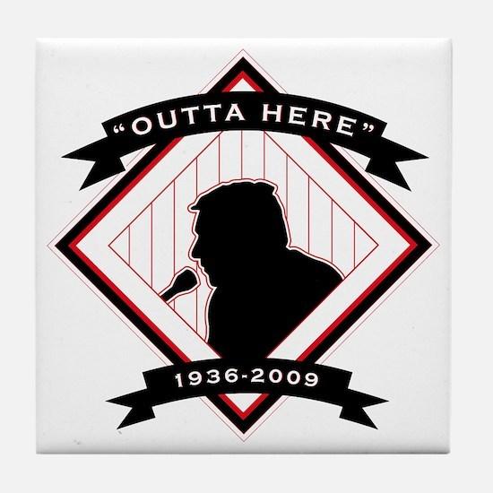 Harry Kalas - back Tile Coaster
