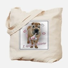 I Give Kisses Sharpei Tote Bag