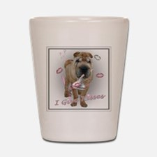 I Give Kisses Sharpei Shot Glass
