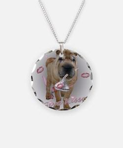 I Give Kisses Sharpei Necklace