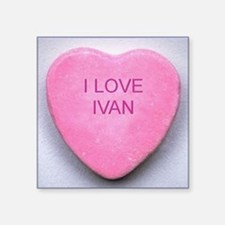 "HEART IVAN Square Sticker 3"" x 3"""