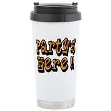 partys here orange Travel Mug