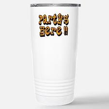 partys here orange Travel Mug