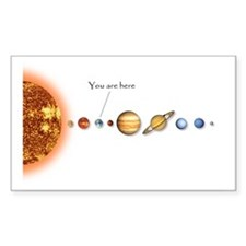Milky way map sticker