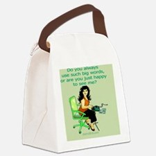 reporter_round Canvas Lunch Bag