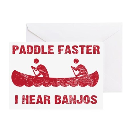 PaddleFaster_red Greeting Card