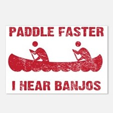 PaddleFaster_red Postcards (Package of 8)