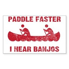 PaddleFaster_red Bumper Stickers