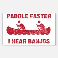 PaddleFaster_red Sticker (Rectangle)