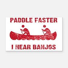 PaddleFaster_red Rectangle Car Magnet
