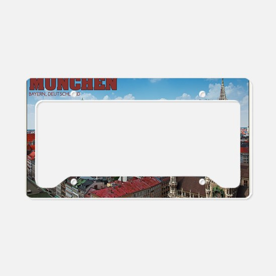 Munich Cityscape License Plate Holder