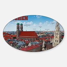 Munich Cityscape Sticker (Oval)