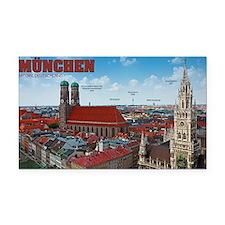 Munich Cityscape Rectangle Car Magnet