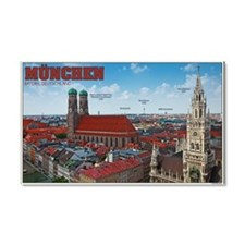 Munich Cityscape Car Magnet 20 x 12