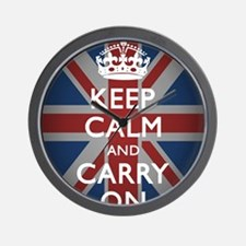 Keep Calm and Carry On Wall Clock