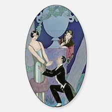 IPAD 6 JUNE  BARBIER LOVE Sticker (Oval)