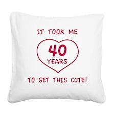 Cute40 Square Canvas Pillow