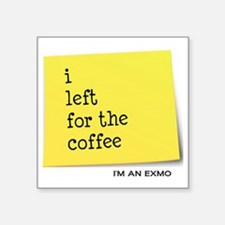 "exmocoffee Square Sticker 3"" x 3"""