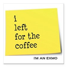 "exmocoffee Square Car Magnet 3"" x 3"""