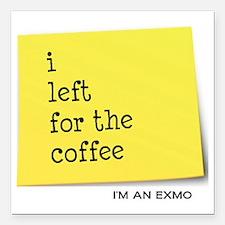 "exmocoffee Square Car Magnet 3"" x 3"""