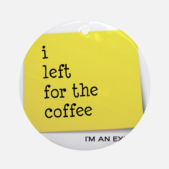 exmocoffee Round Ornament