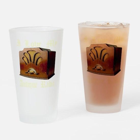 ilovemy_antique_radio_transparent Drinking Glass