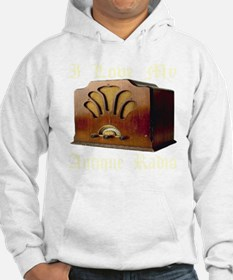 ilovemy_antique_radio_transparen Hoodie