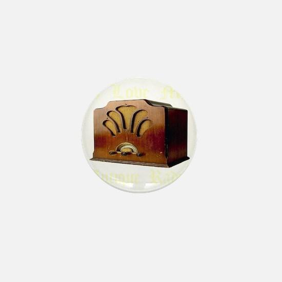 ilovemy_antique_radio_transparent Mini Button