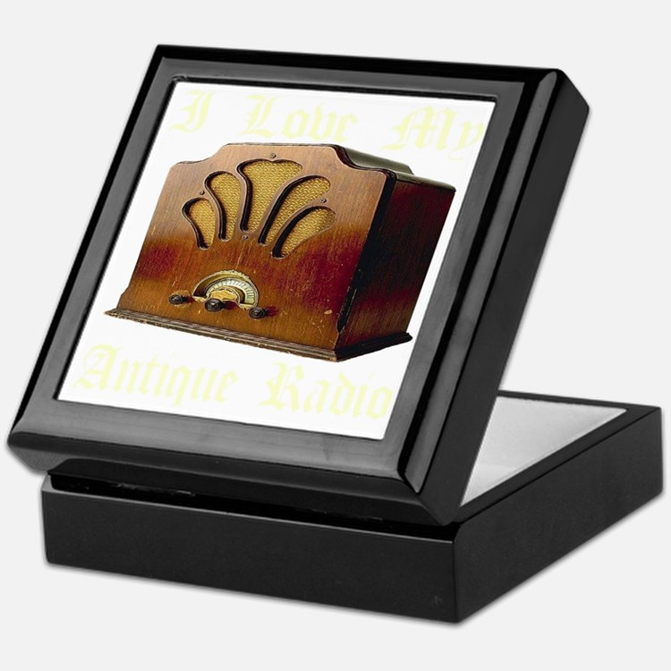 ilovemy_antique_radio_transparent Keepsake Box