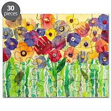 Melting Colors Garden Puzzle