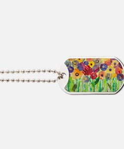 Melting Colors Garden Dog Tags