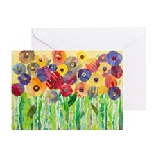 Melting Colors Garden Greeting Card