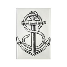 sailorukes_anchor_dark Rectangle Magnet