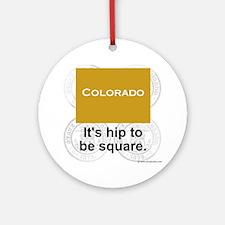 Colorado Round Ornament