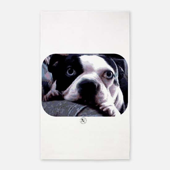 Sad Boston Terrier 3'x5' Area Rug