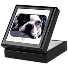 Sad Boston Terrier Keepsake Box