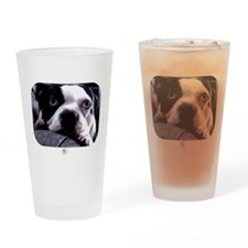 Sad Boston Terrier Drinking Glass
