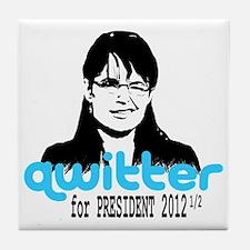 QwitterTee Tile Coaster