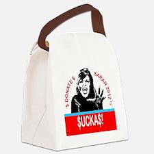 SuckasSticker Canvas Lunch Bag