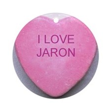 HEART JARON Round Ornament